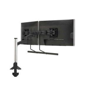 Kontour™ K2 Clmn Mnt Dual Disp 2L Arm H-Array - Black
